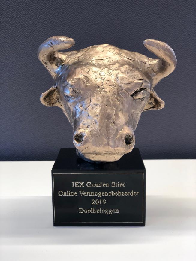 Opnieuw prestigieuze Gouden Stier Award voor Doelbeleggen.nl uit Amstelveen