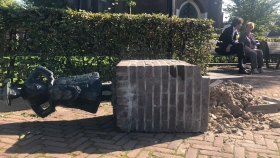Kosten omvergereden Turftrapster worden vergoed
